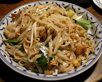Rice Noodles are Gluten Free, but what they are cooked in may not be.